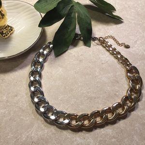Zara Two-tone gold silver chain necklace